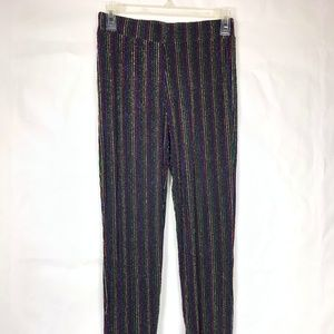 NEW Zara Knit Women's Pants Black disco  88